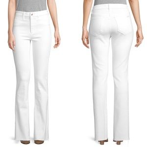EUC Joes Jeans White Raw Hem Boot